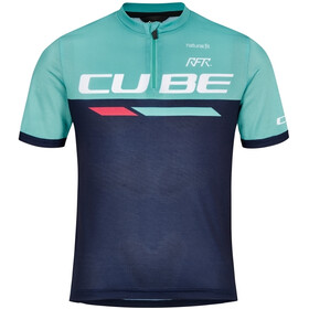 Cube Junior Teamline SS Jersey Kids, blue´n´mint